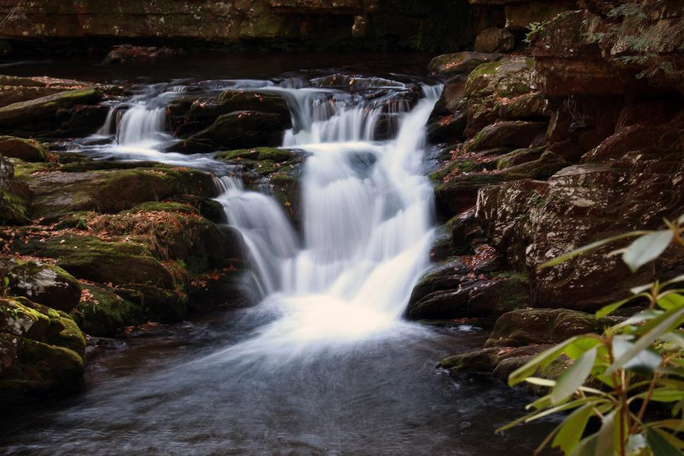 Download Free Stock Photo of Van Campens Brook Waterfall