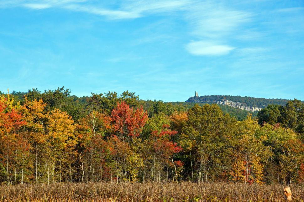 Download Free Stock HD Photo of Mohonk Skytop Surrounded By Autumn Colors   Online