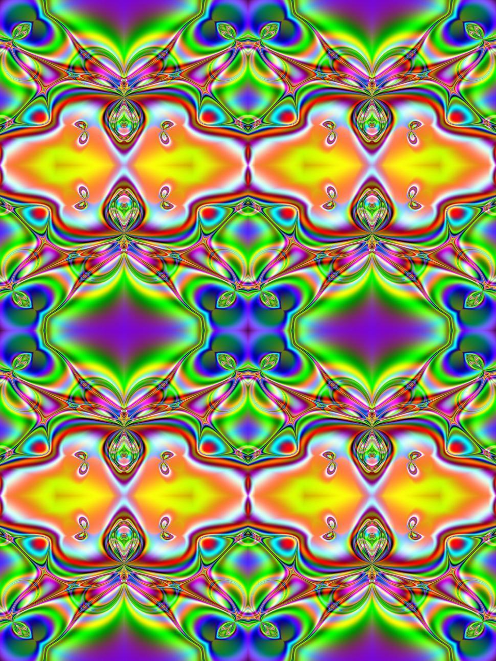 Download Free Stock Photo of Fractal-based Tile