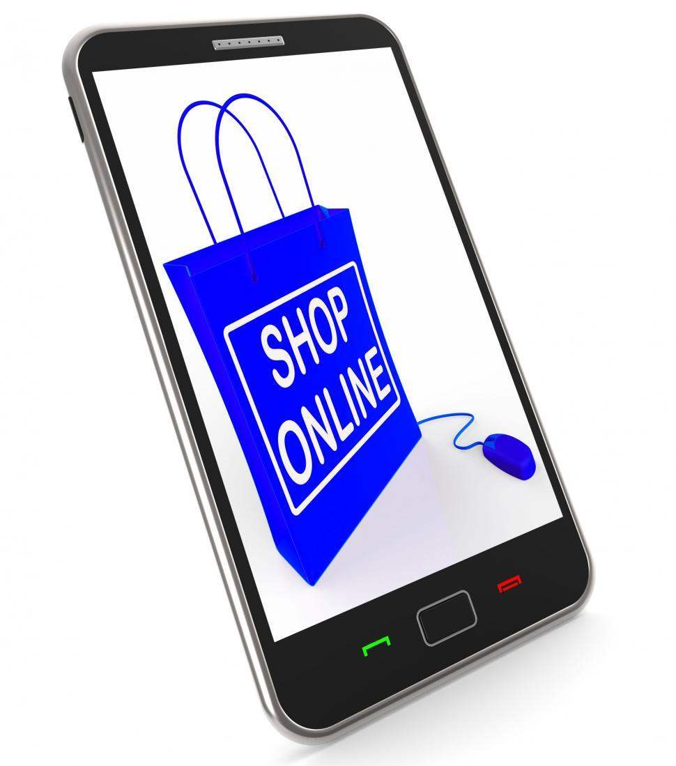Download Free Stock HD Photo of Shop Online Bag Shows Internet Shopping and Buying Online