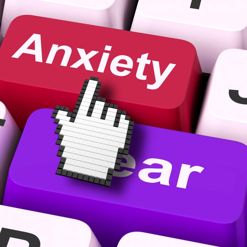 Download Free Stock Photo of Anxiety Fear Keys Mouse Means Anxious And Afraid