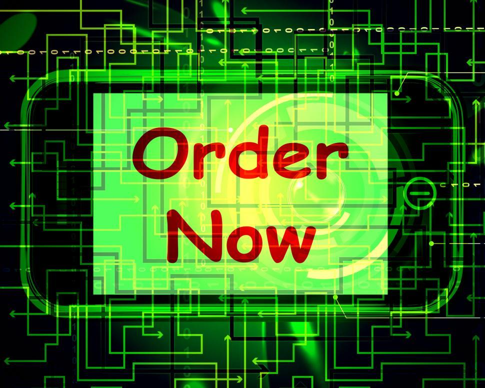 Download Free Stock HD Photo of Order Now On Phone Shows Buying Online In Web Stores Online