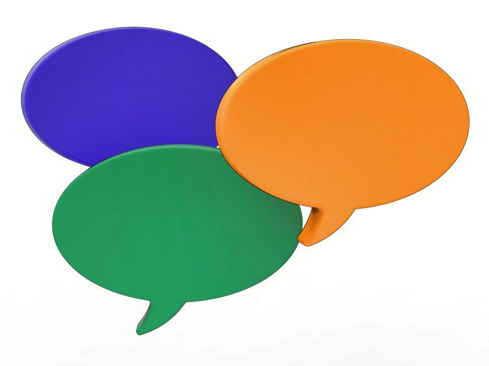 Download Free Stock HD Photo of Blank Speech Balloon Shows Copy space For Thought Chat Or Idea Online