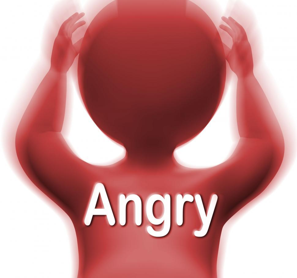 Download Free Stock HD Photo of Angry Man Means Mad Outraged Or Furious Online