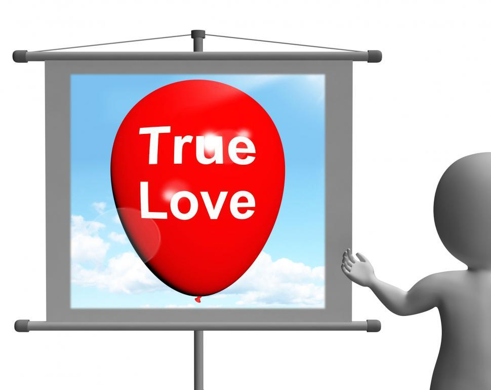 Download Free Stock Photo of True Love Sign Represents Lovers and Couples