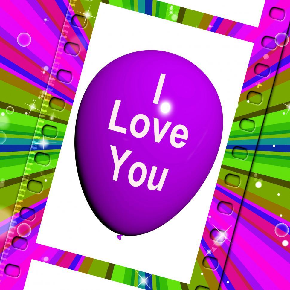 Download Free Stock HD Photo of I Love You Balloon Represents Love and Couples Online