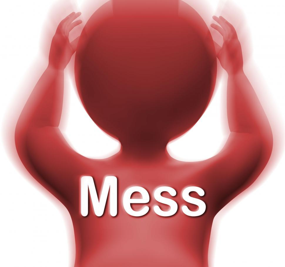 Download Free Stock HD Photo of Mess Man Shows Chaos Disorder And Confusion Online