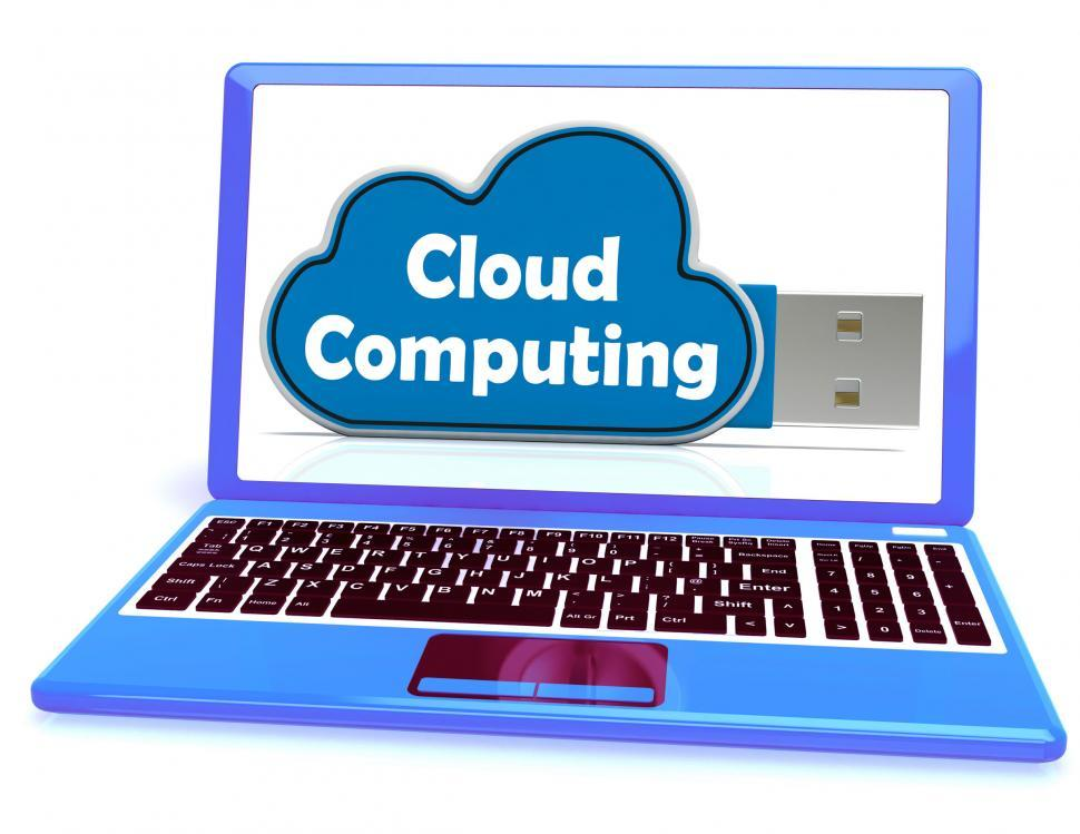 Download Free Stock HD Photo of Cloud Computing Memory Means Computer Networks And Servers Online