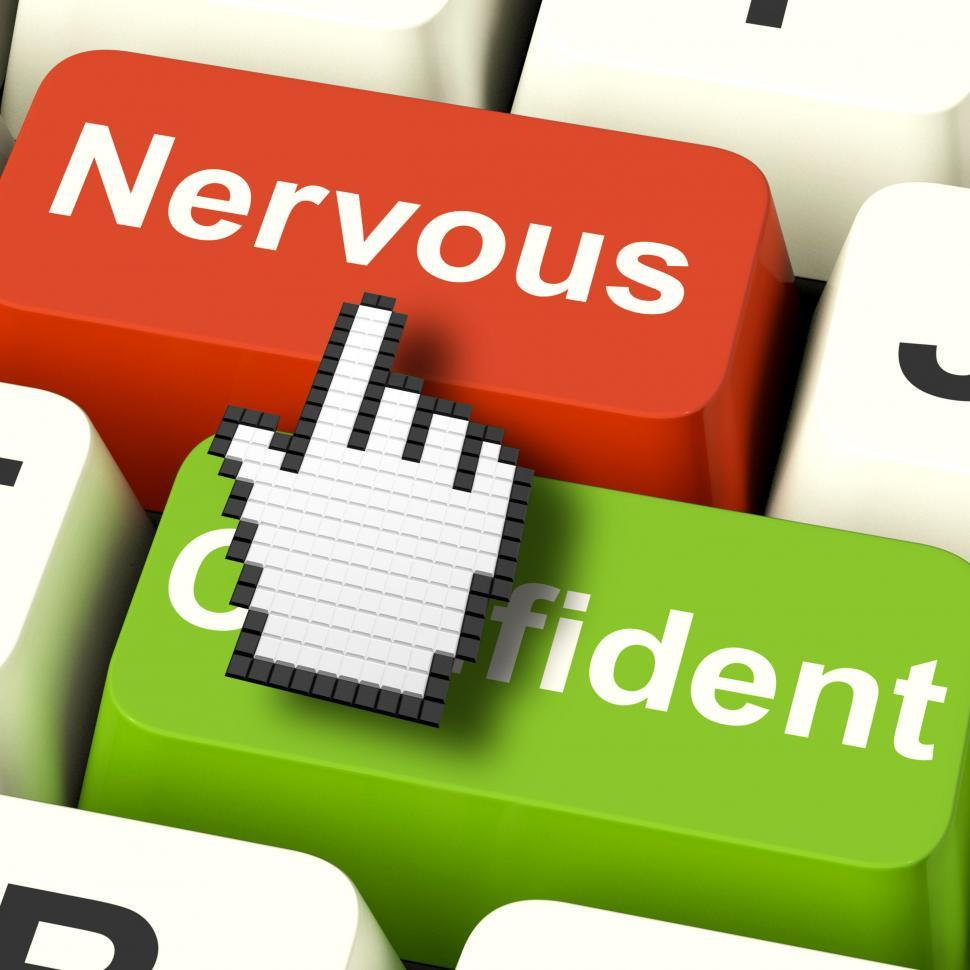 Download Free Stock HD Photo of Nervous Anxious Keys Shows Nerves Or Afraid Online Online