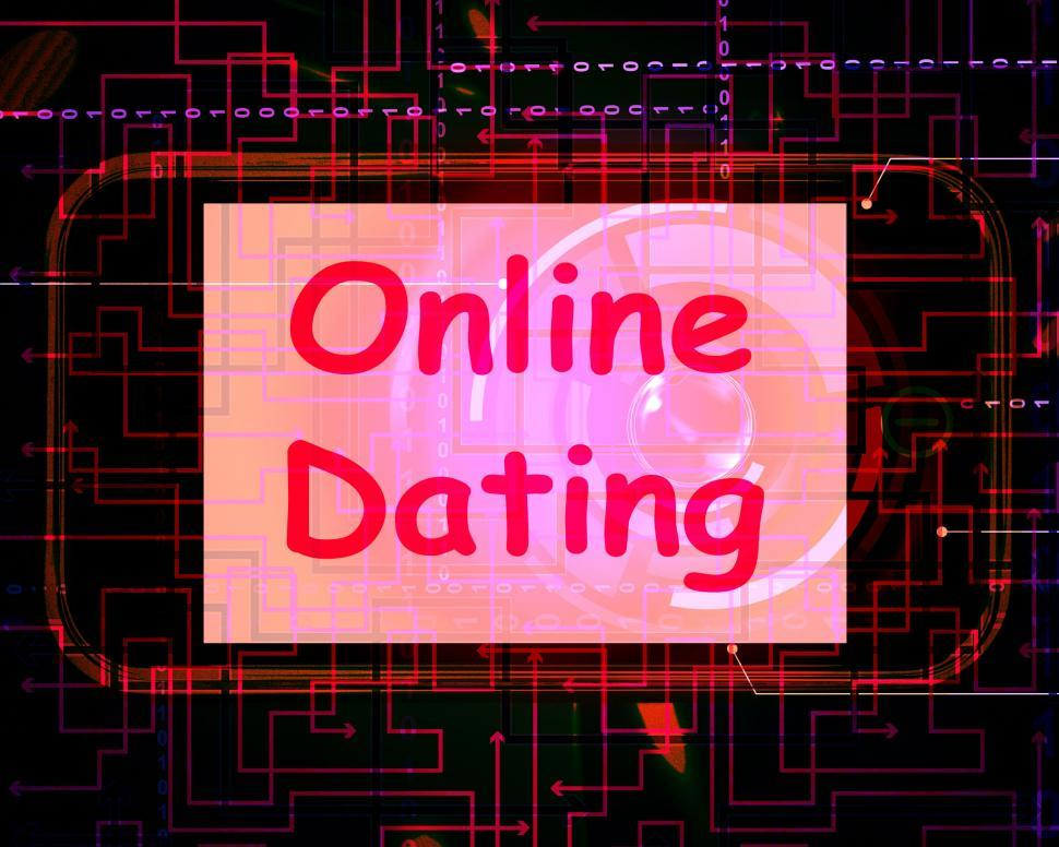 Download Free Stock Photo of Online Dating  On Screen Shows Romancing And Web Love