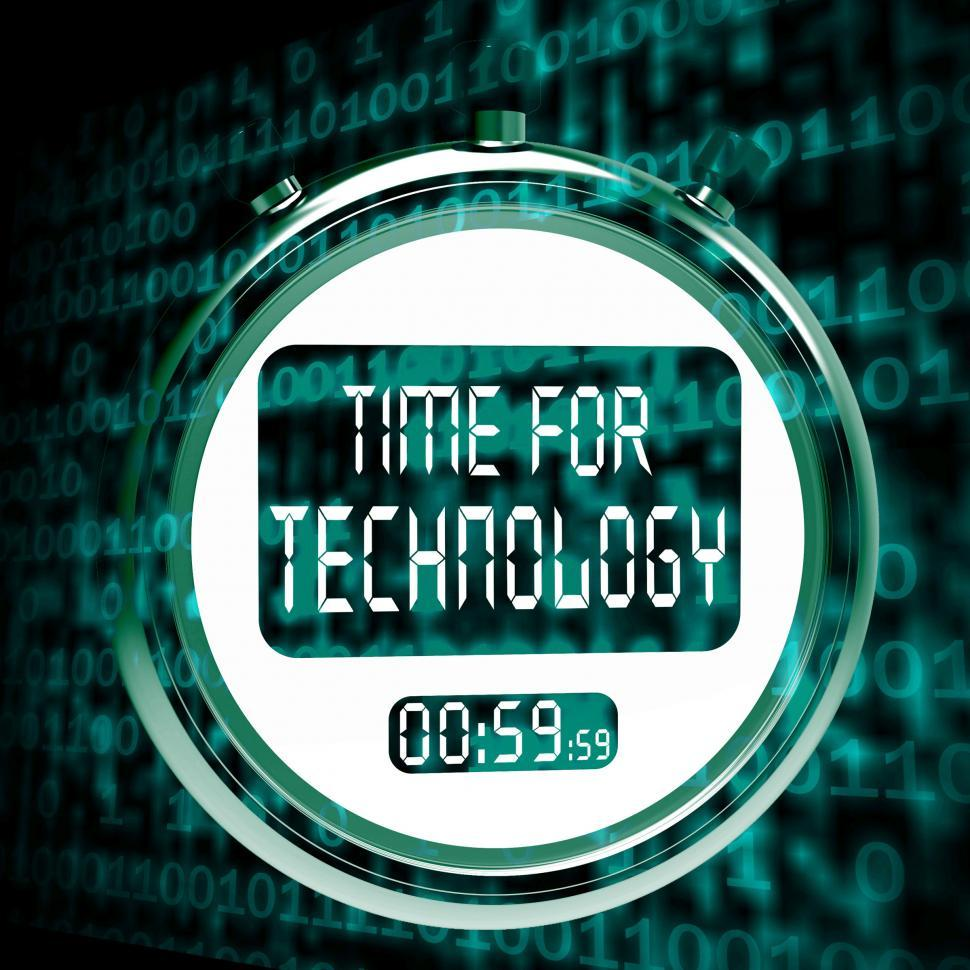 Download Free Stock HD Photo of Technology Watch Touch Screen Shows Innovation Improvement And H Online