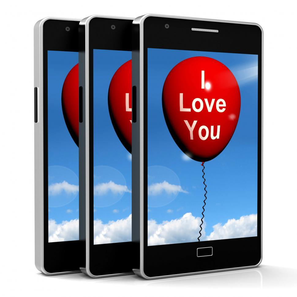 Download Free Stock HD Photo of I Love You Balloon Represents Lovers and Couples Online