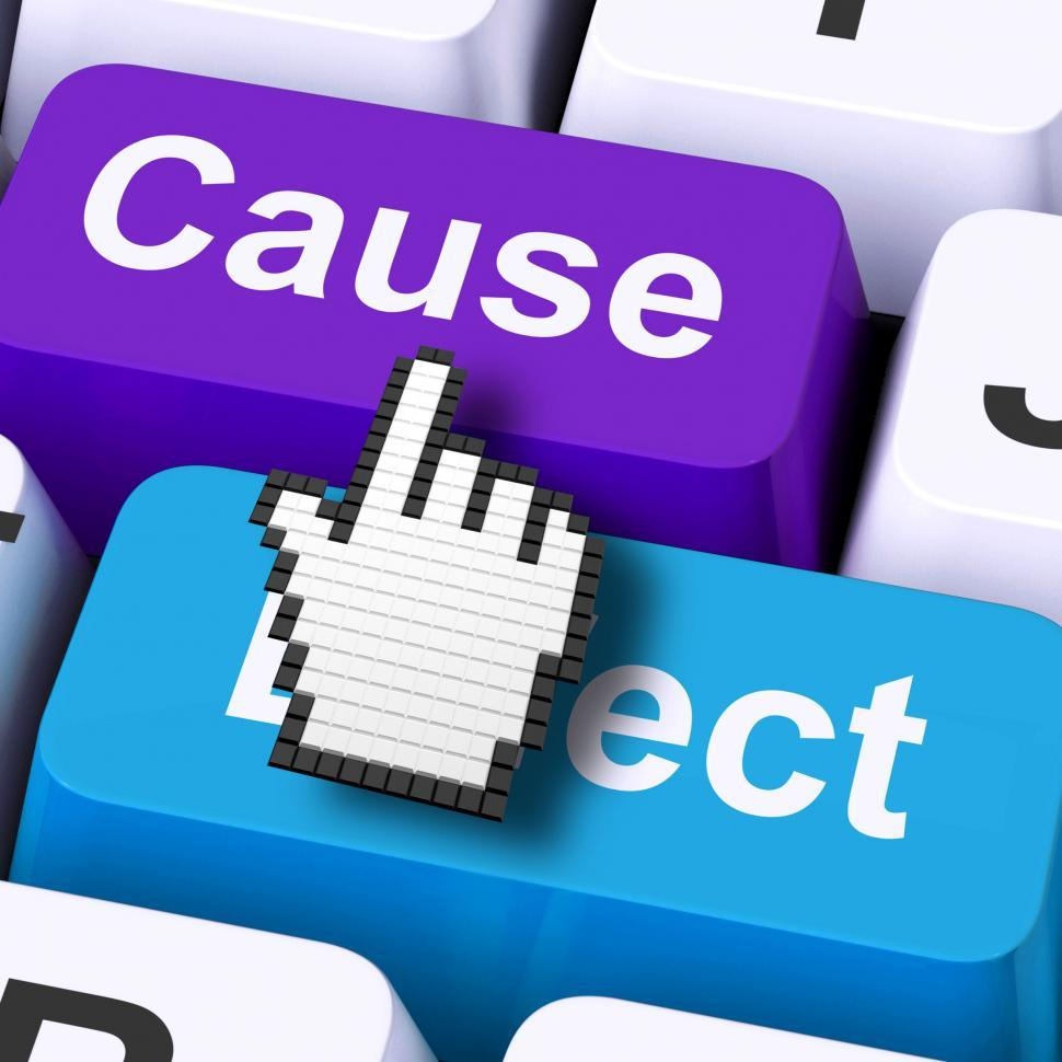 Download Free Stock HD Photo of Cause Effect Computer Means Consequence Action Or Reaction Online