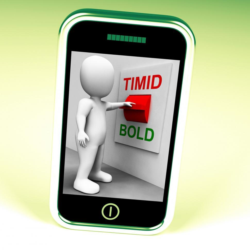 Download Free Stock Photo of Timid Bold Switch Means Fear Or Courage