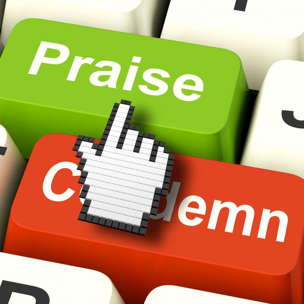 Download Free Stock Photo of Appreciate Praise Computer Means Appreciating or Great