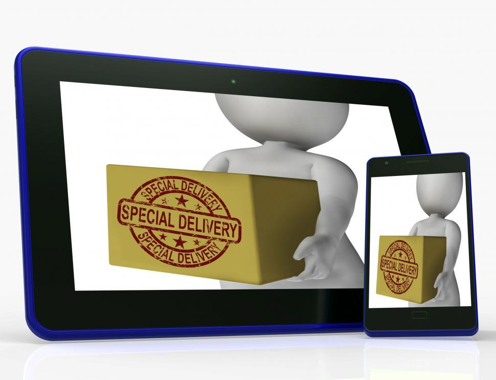 Download Free Stock HD Photo of Special Delivery Box Means Delivered In 24 Hours Online