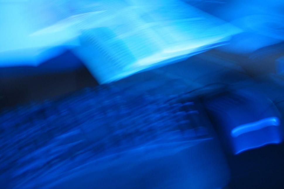 Download Free Stock Photo of Blurry background in blue