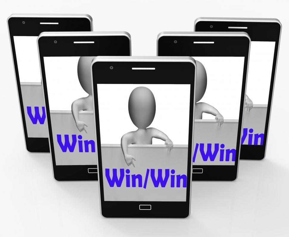 Download Free Stock HD Photo of Win Win Sign Means Positive Outcome For Both Parties Online