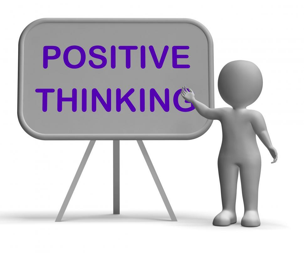 Download Free Stock HD Photo of Positive Thinking Whiteboard Means Optimism Hopefulness Or Good  Online