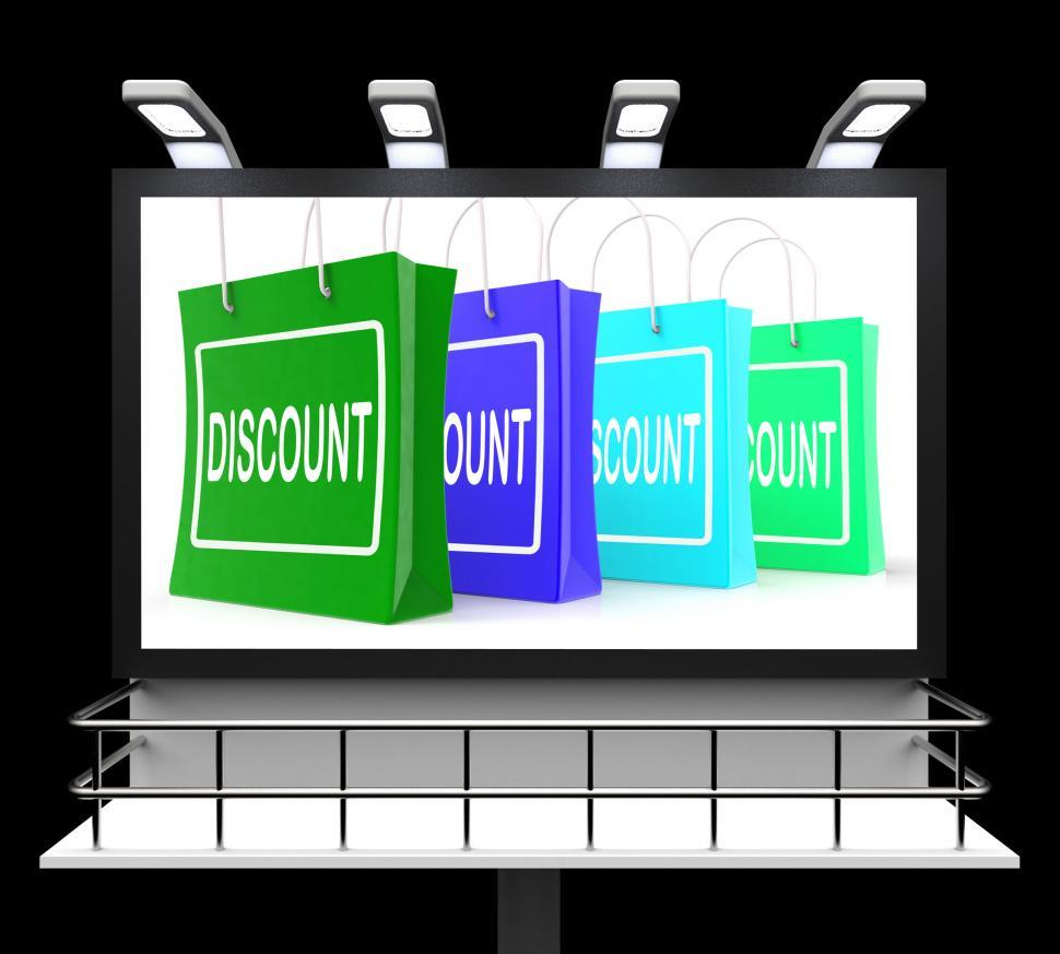 Download Free Stock HD Photo of Discount Shopping Bags Means Cut Price And Reduce Online
