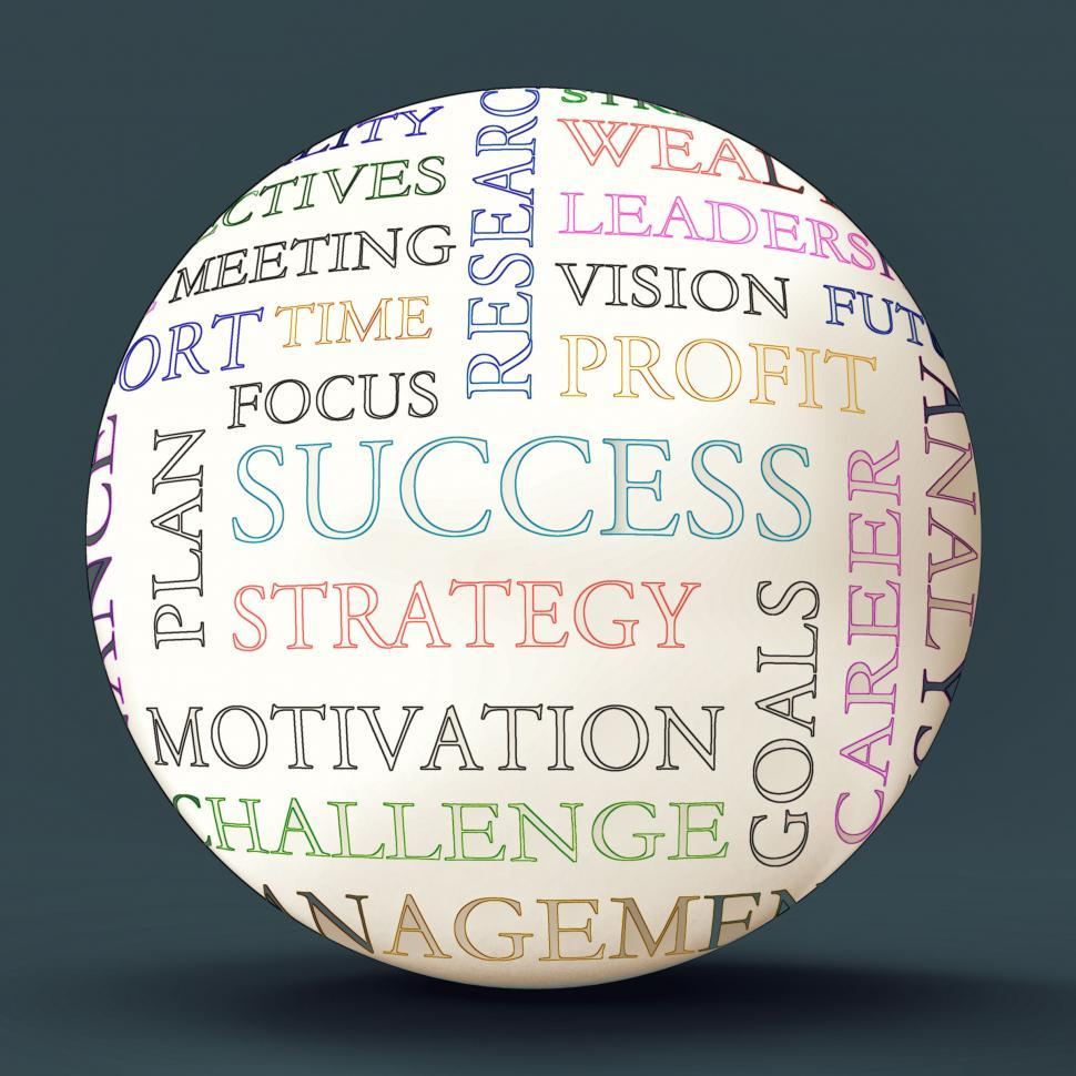 Download Free Stock Photo of Word Cloud Sphere Shows Road To  Success
