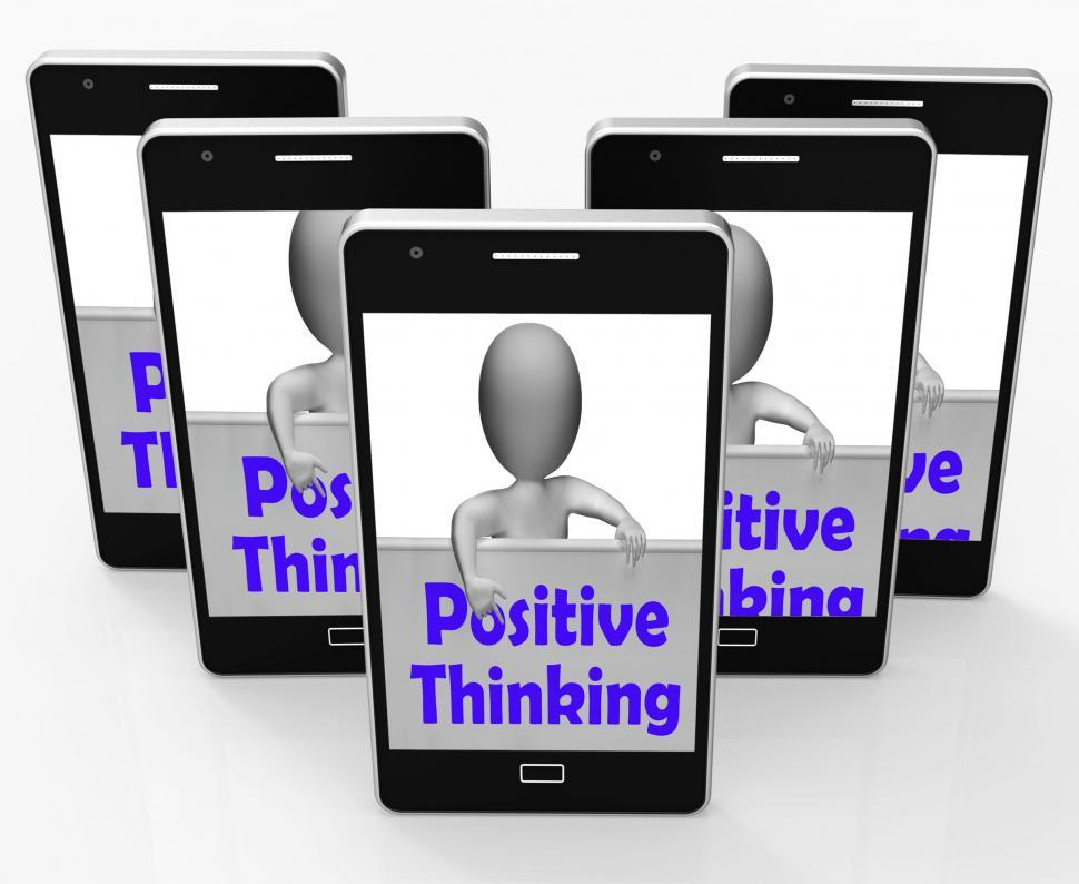 Download Free Stock HD Photo of Positive Thinking Sign Shows Optimistic And Good Thoughts Online