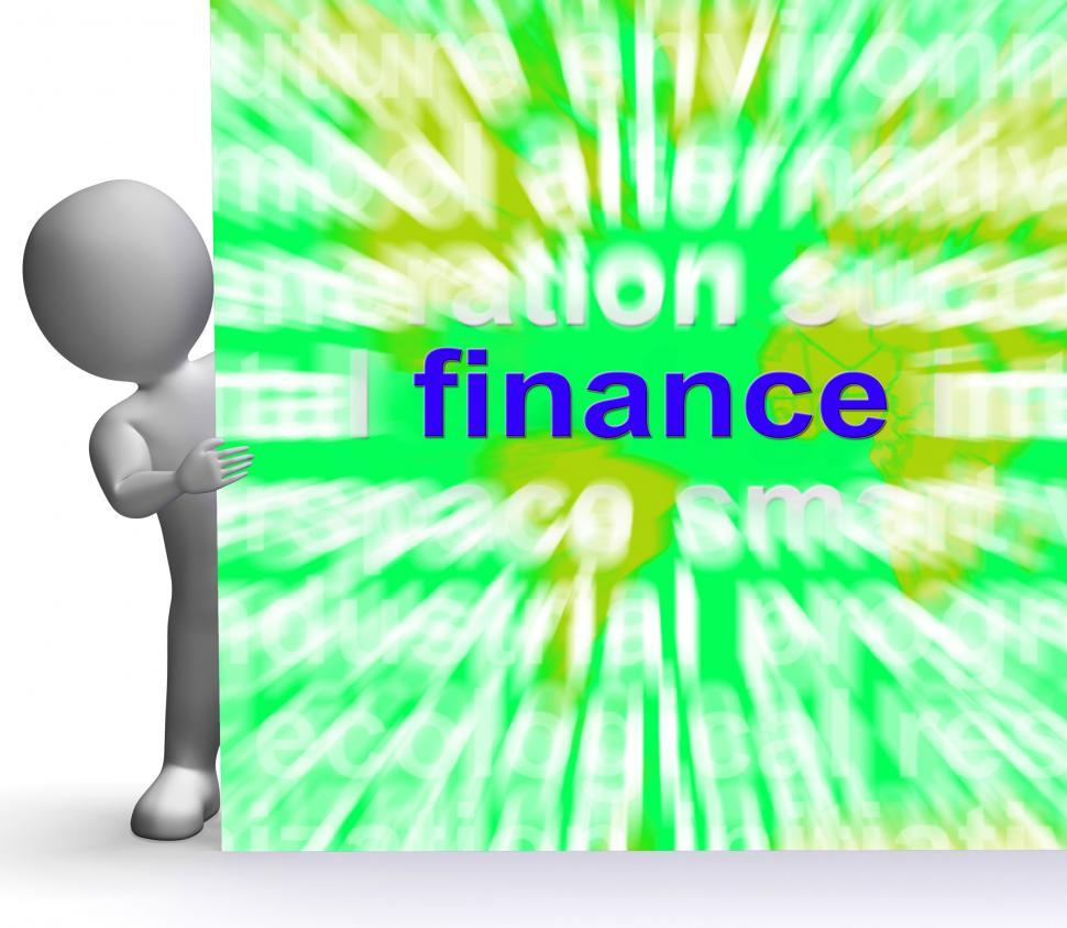 Download Free Stock Photo of Finance Word Cloud Sign Means Money Investment