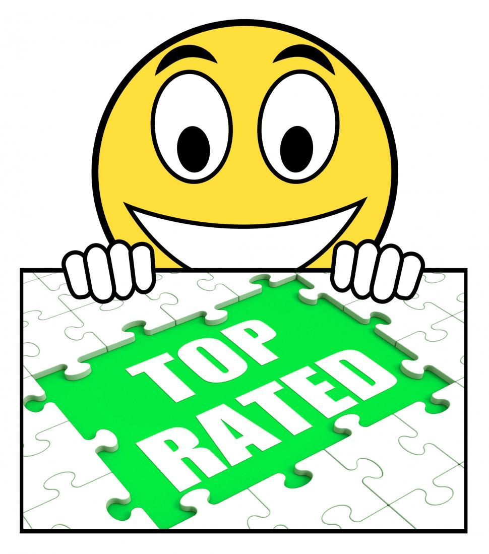 Download Free Stock HD Photo of Top Rated Sign Means Most Popular Or Best-Seller Online