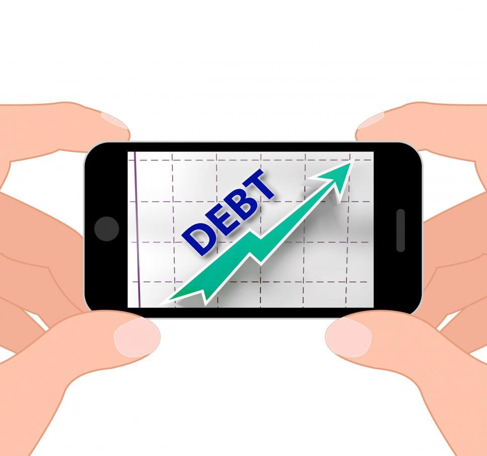 Download Free Stock Photo of Debt Graph Displays Money Due And Liabilities