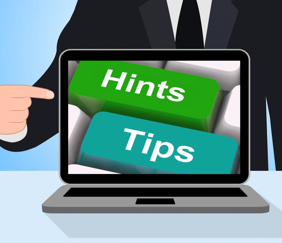 Download Free Stock HD Photo of Hints Tips Computer Mean Guidance And Advice Online
