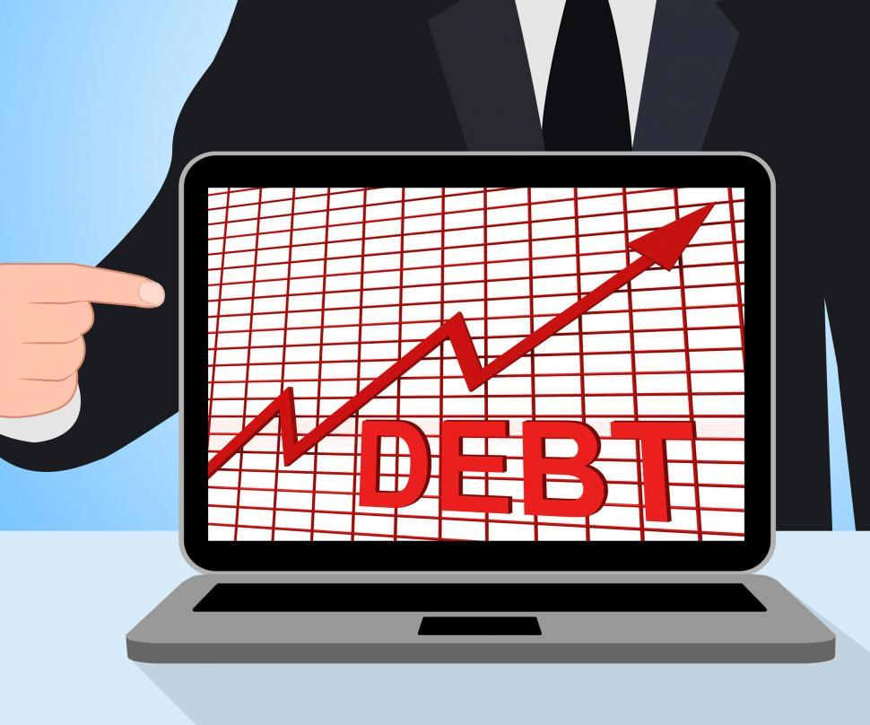 Download Free Stock HD Photo of Debt Graph Chart Displays Increase Financial Indebted Online