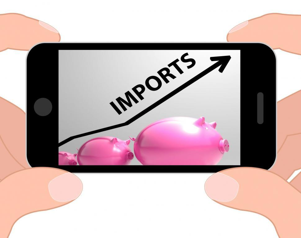 Download Free Stock HD Photo of Imports Arrow Displays Buying And Importing International Produc Online