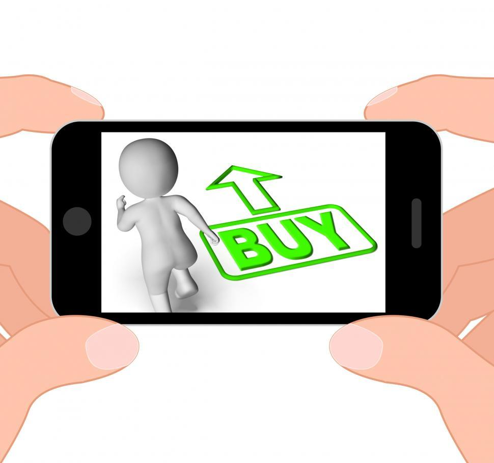 Download Free Stock Photo of Buy And Running 3D Character Displays Buy Now Shop