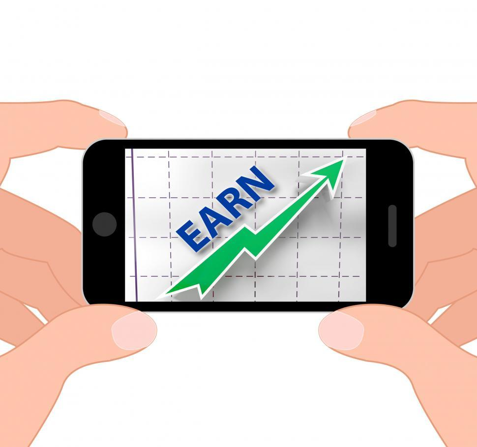 Download Free Stock HD Photo of Earn Graph Displays Rising Income Gain And Profits Online