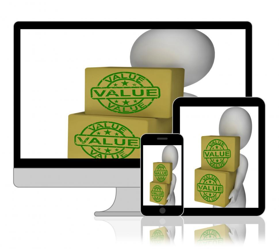 Download Free Stock HD Photo of Value Boxes Display Product Quality And Worth Online
