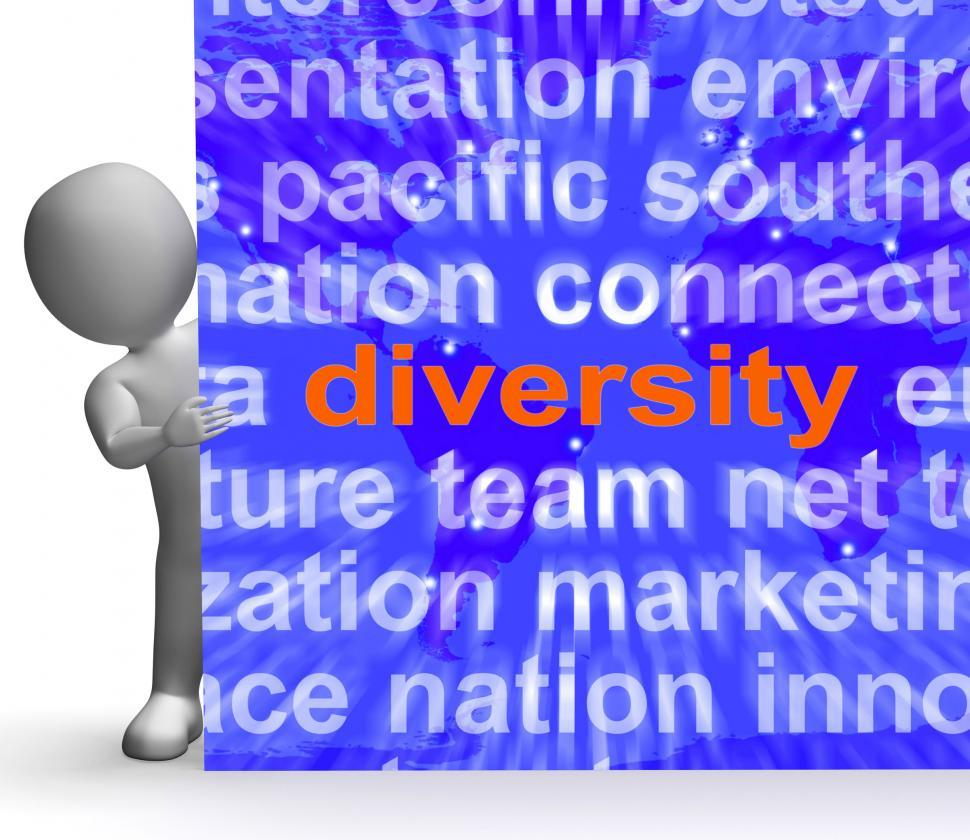 Download Free Stock HD Photo of Diversity Word Cloud Sign Shows Multicultural Diverse Culture Online