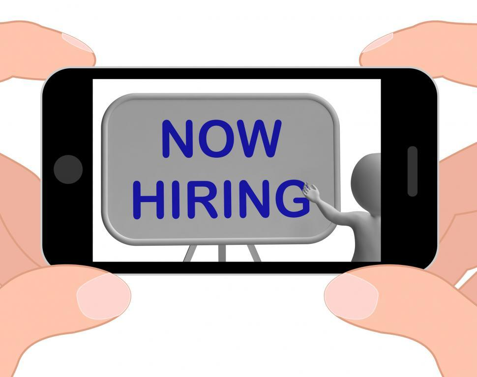 Download Free Stock HD Photo of Now Hiring Phone Means Job Vacancy And Employment Online