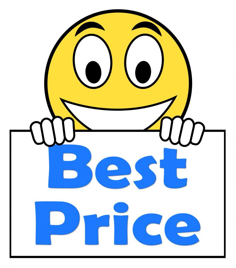 Download Free Stock HD Photo of Best Price On Sign Shows Promotion Offer Or Discount Online