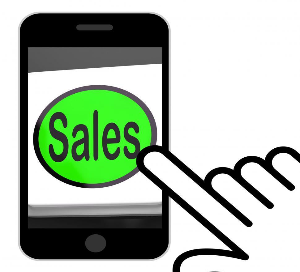 Download Free Stock HD Photo of Sales Button Displays Promotions And Deals Online