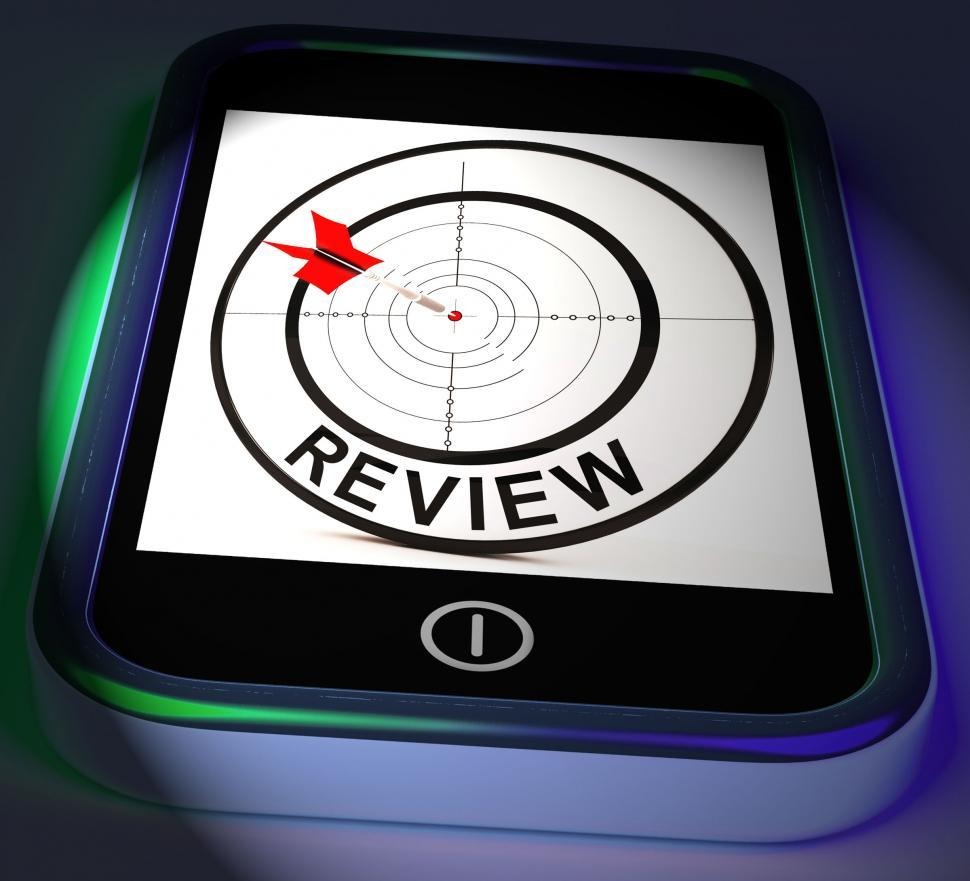 Download Free Stock Photo of Review Smartphone Displays Feedback Evaluation And Assessment