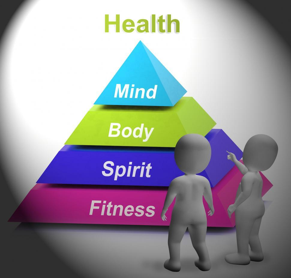 Download Free Stock HD Photo of Health Symbol Shows Fitness Strength And Wellbeing Online