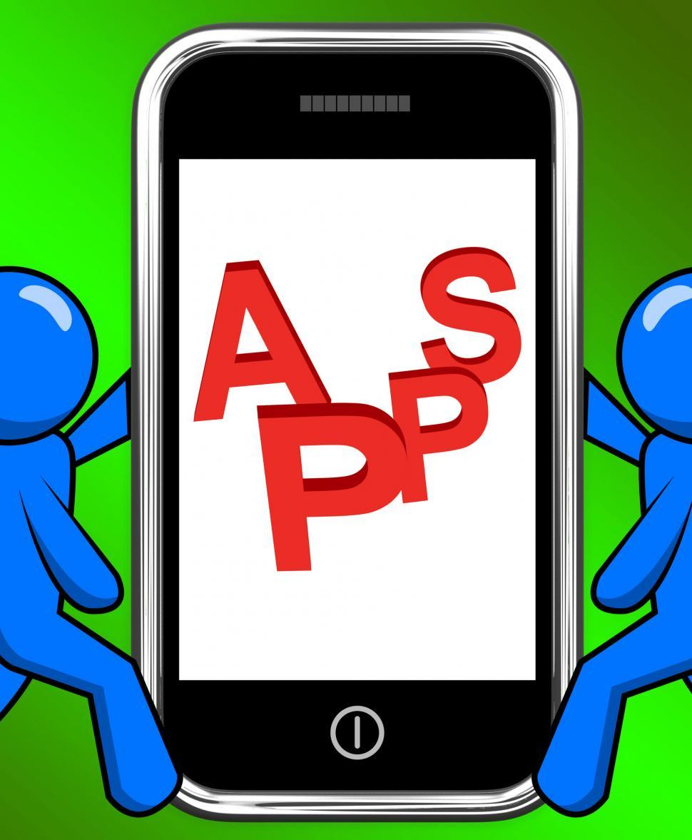Download Free Stock HD Photo of Apps On Phone Displays Internet Application Or App Online
