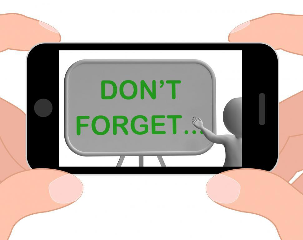 Download Free Stock Photo of Don t Forget Phone Shows Remembering Tasks And Recalling