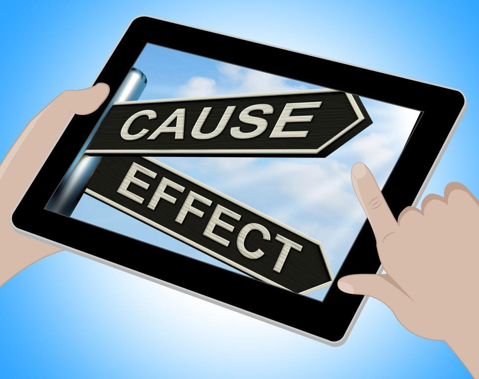 Download Free Stock HD Photo of Cause And Effect Tablet Means Results Of Actions Online