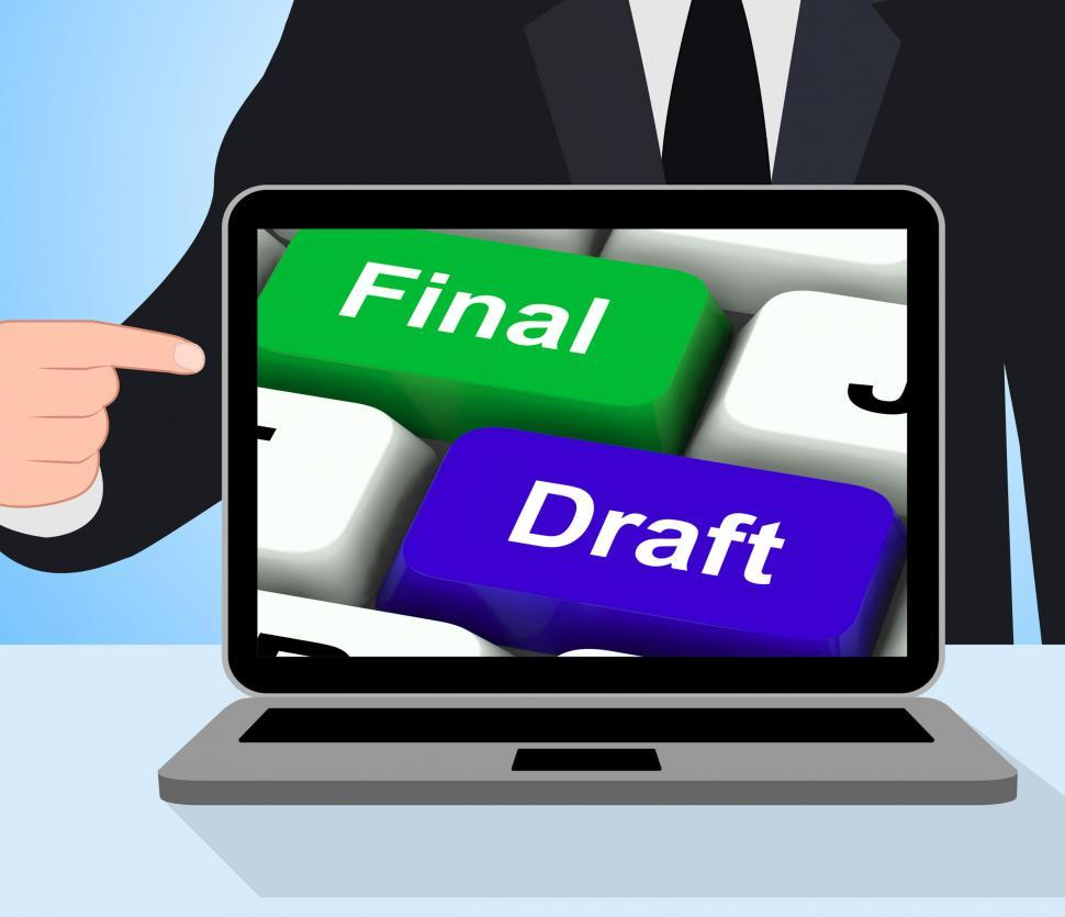 Download Free Stock HD Photo of Final Draft Keys Displays Editing And Rewriting Document Online