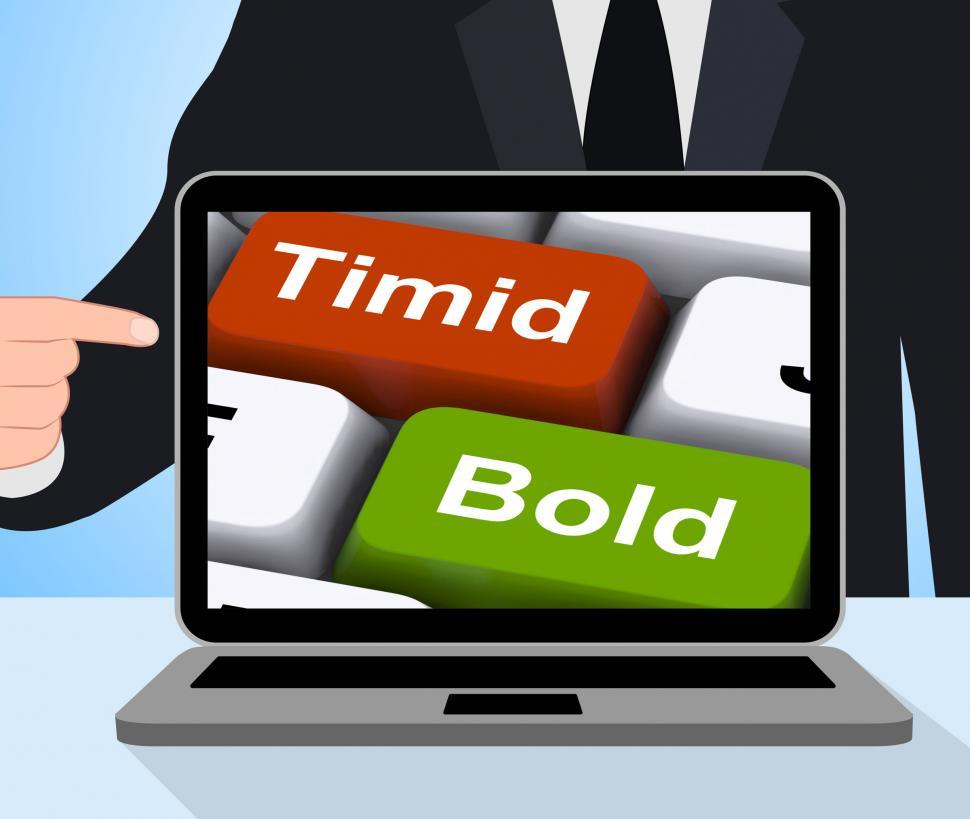 Download Free Stock HD Photo of Timid Bold Computer Show Shy Or Outspoken Online