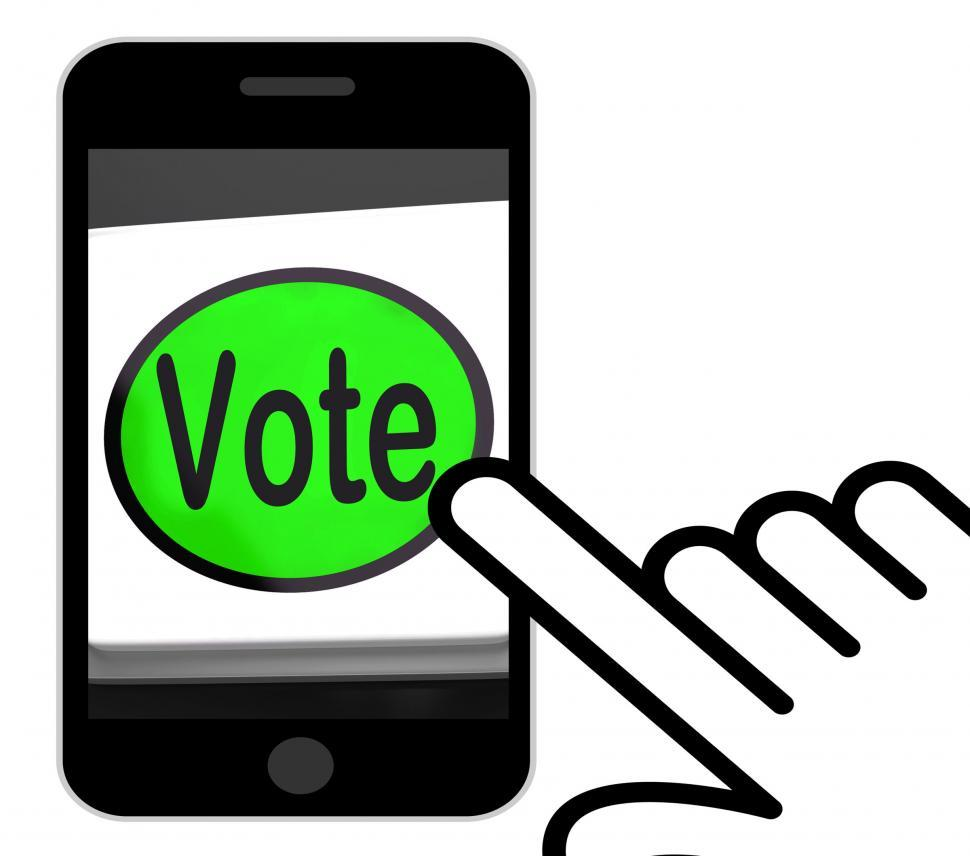 Download Free Stock HD Photo of Vote Button Displays Options Voting Or Choice Online