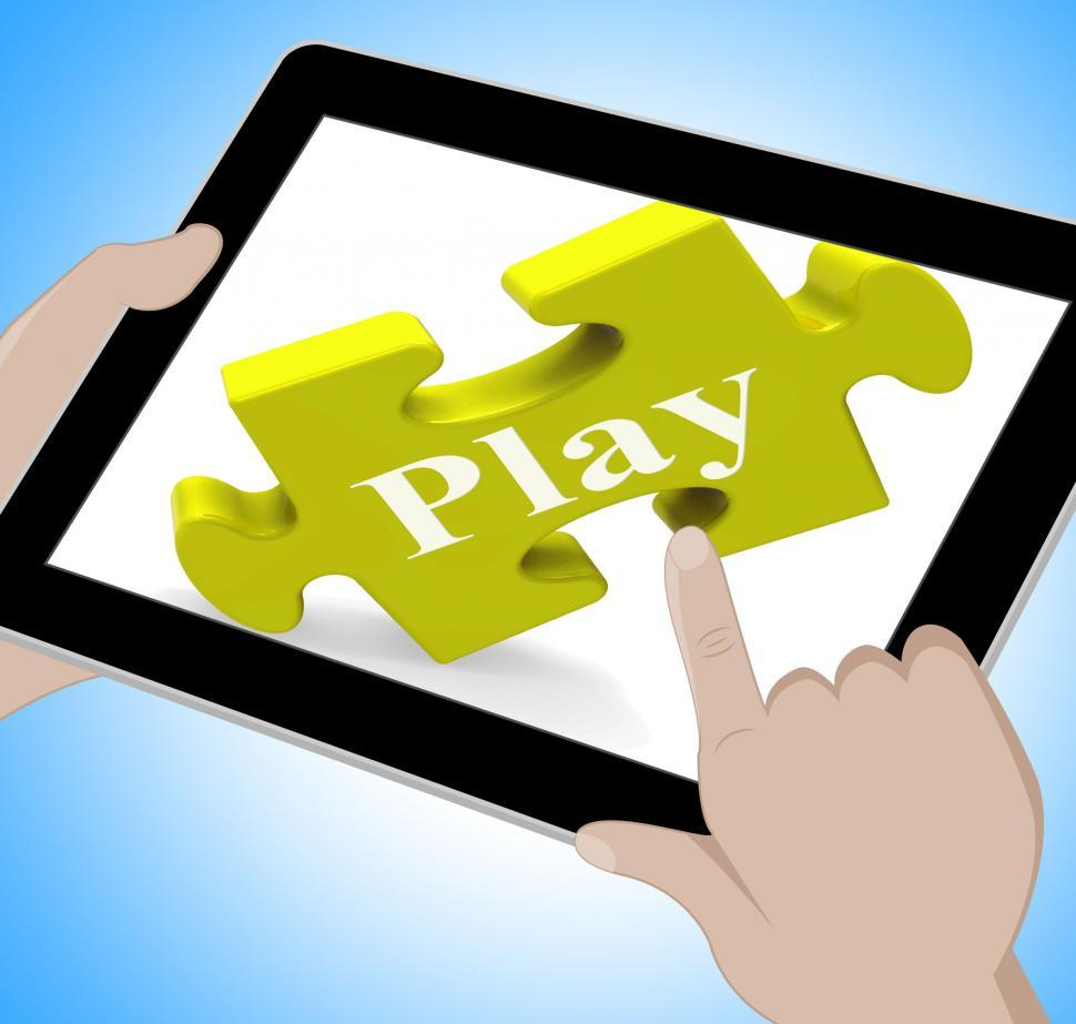 Download Free Stock HD Photo of Play Tablet Means Fun And Games On Web Online