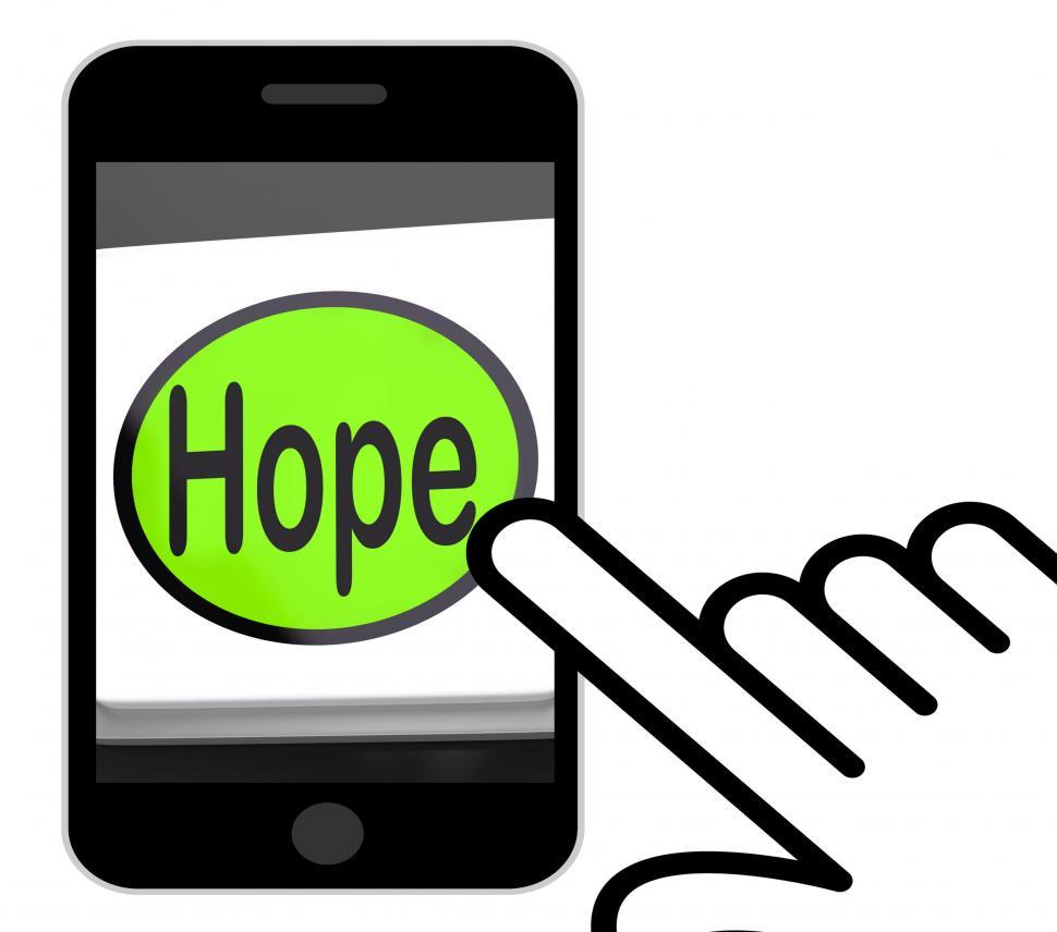 Download Free Stock HD Photo of Hope Button Displays Hoping Hopeful Wishing Or Wishful Online