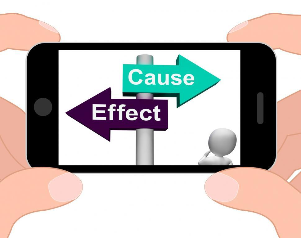 Download Free Stock HD Photo of Cause Effect Signpost Displays Consequence Action Or Reaction Online